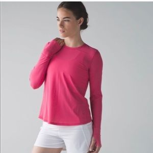 lululemon athletica Tops - Lulu Lemon pink Runaway split back top